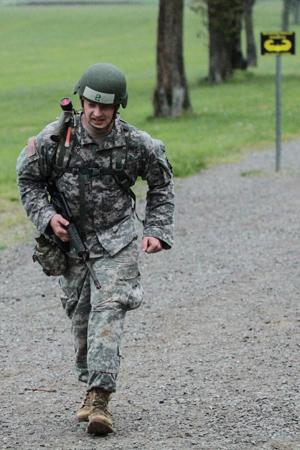Sergeant 1st Class Greg Robinson training