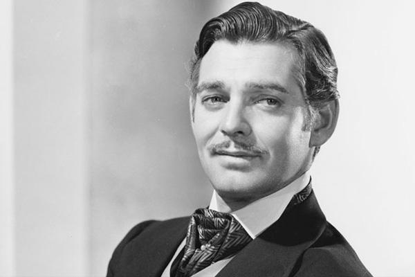Clark Gable wearing a suit.