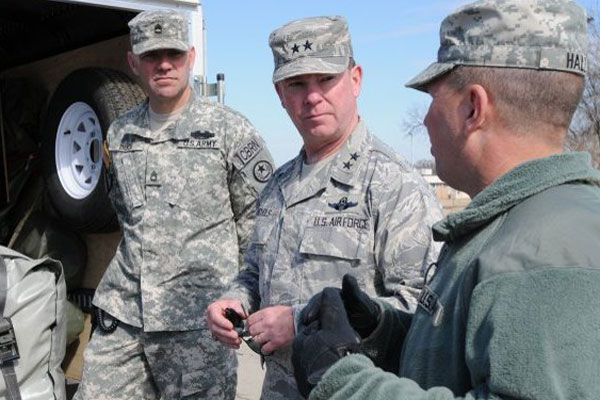 Maj. Gen. John Nichols, the commanding general of Texas Military Forces