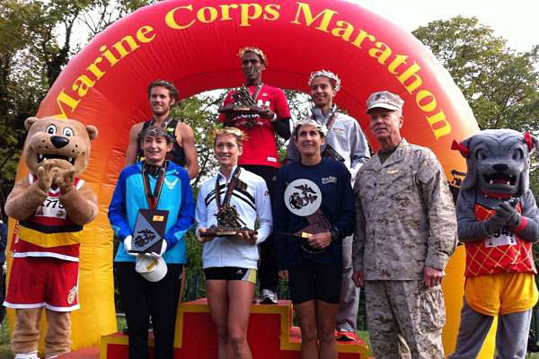 Winners of the 2013 Marine Corps Marathon