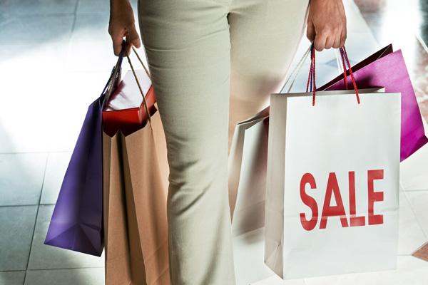 Shopping spree bags.