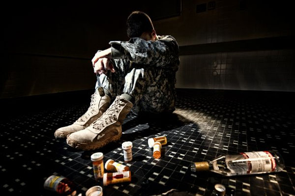 soldier with substance abuse problems