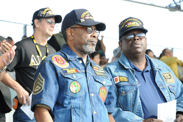 Vietnam veterans Robert Rivers and Daniel Brown