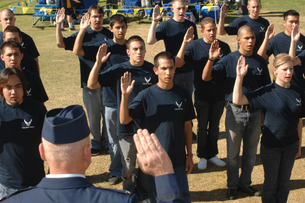 Air Force delayed enlistment recruits