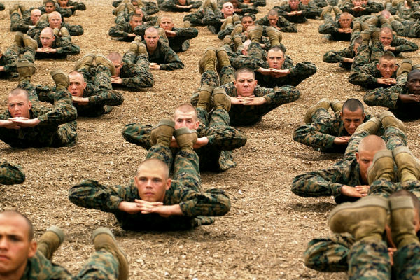 Company C Marines training in San Diego