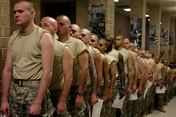 Army recruits at Fort Jackson