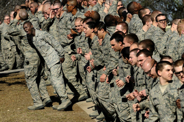 Air Force recruits at Lackland