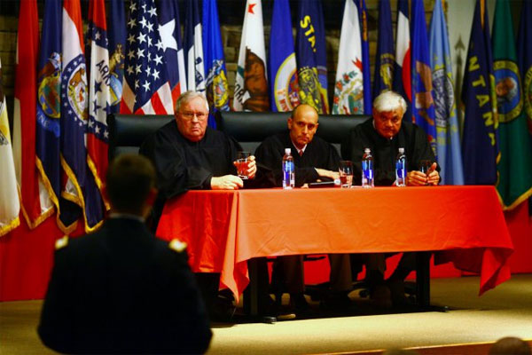 Sgt. Bowe Bergdahl's defense team has appealed his case to the U.S. Court of Appeals of the Armed Forces, shown here during a Q & A session in November 2012. (US Army photo)