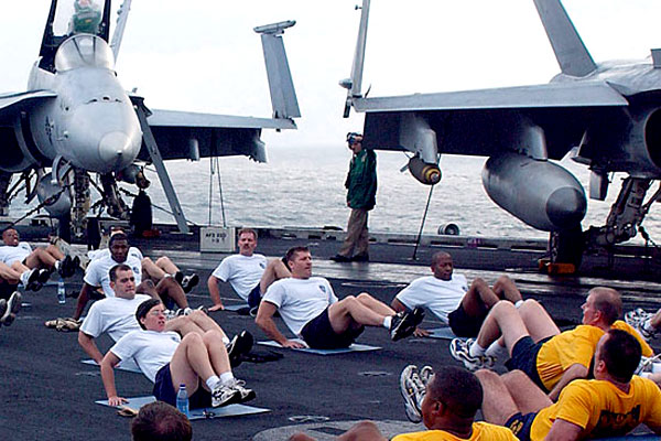 The Navy said it has been losing too many talented sailors to body fat limits. Some were resorting to liposuction, diet pills and other measures to save their careers. (US Navy photo)