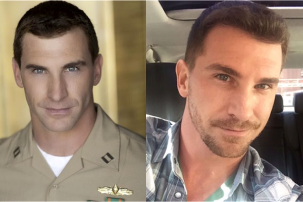Before-and-after photos of Lt. Ricky Ryba of the Navy Reserves.