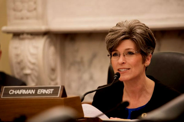 Sen. Joni Ernst, R-Iowa is cosponsoring the Military Retaliation Prevention Act with Sen. Claire McCaskill, D-Mo.