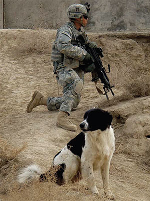 Trigger on patrol in Iraq