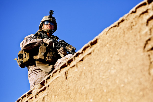Marine Lance Cpl. sentry.