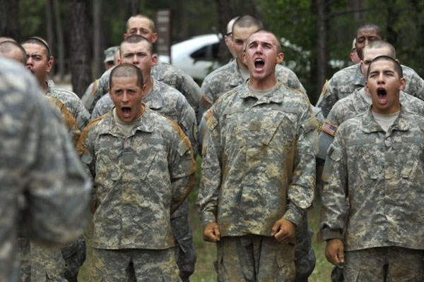 Army recruits sound off