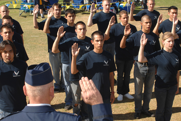 Air Force recruit oath