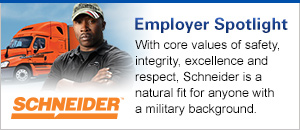 Schneider National Military Friendly Employer