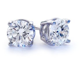 blue nile wedding diamond earrings 275x250