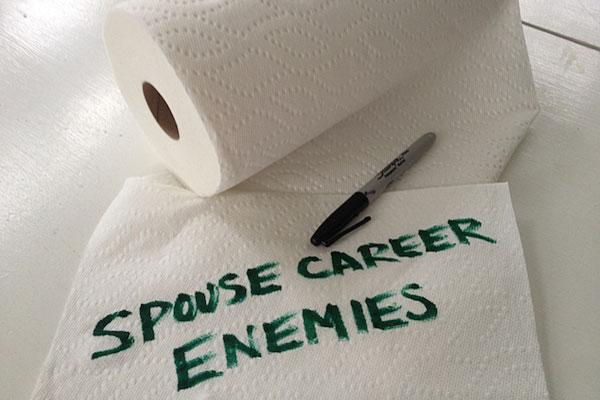 Spouse career enemies