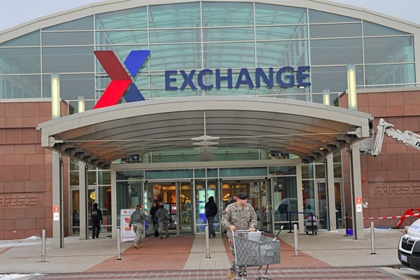 Online military exchange shopping