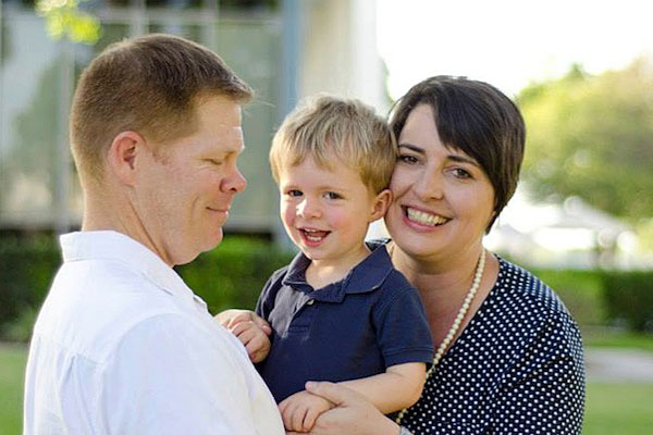Amanda Crowe, executive director of In Gear Career, and her family.