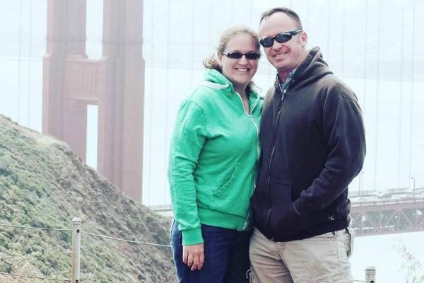 Julie Provost and her husband. Photo courtesy of Julie Provost