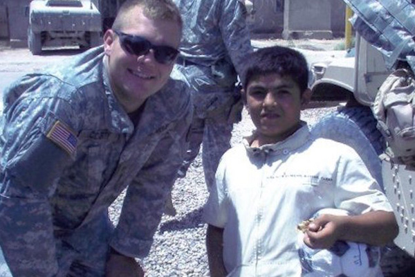 Justin McCarty in Iraq, 2005.