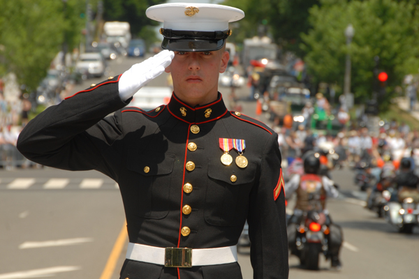 MarineSaluting