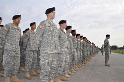 line of soldiers