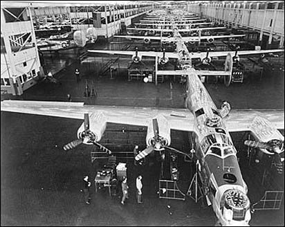 B-24 Bomber at GM Plant