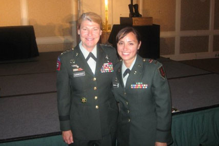 Michelle Caraballo with General Dunwoody