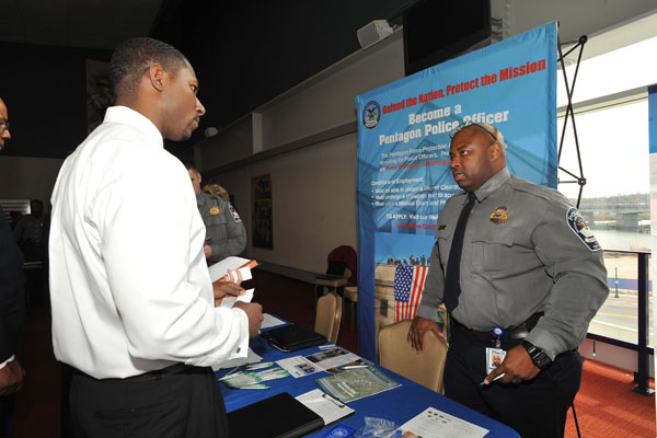 Tyrell Eddy at Hiring our Heroes event