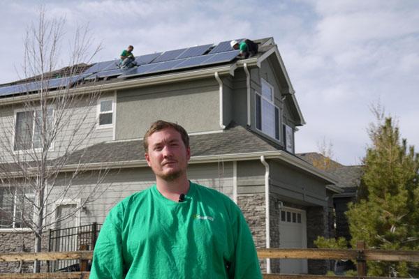 Veteran Jeff Lamica at green job