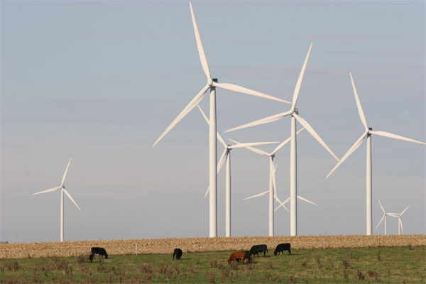 wind power in a field