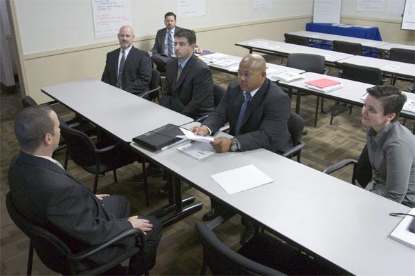 veteran at job interview class
