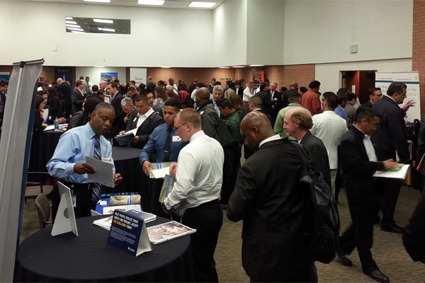 job fair panoramic photo