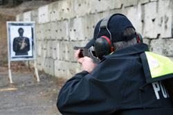law enforement firing range shooting