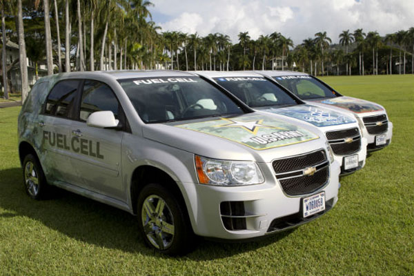 GM fuel cell cars for Army