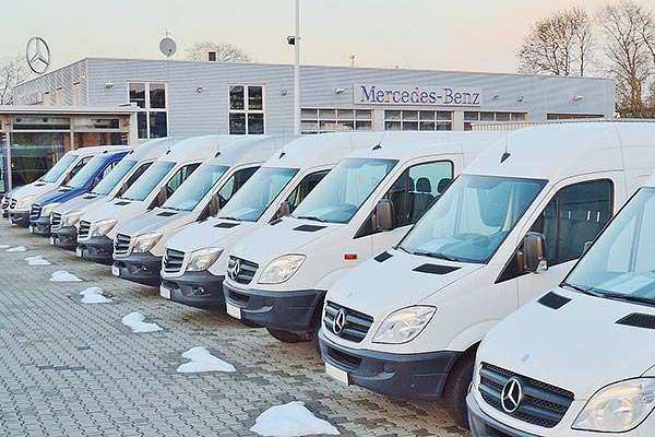 Mercedes Benz car dealership (Public domain photo)