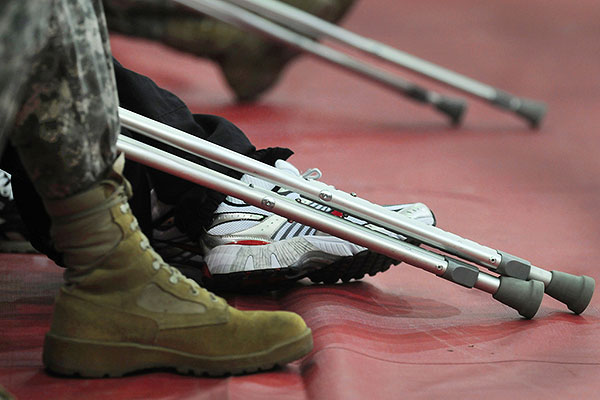 U.S. Soldiers who are wounded, ill or injured attend a Warrior Transition Brigade event at Walter Reed Army Medical Center in Washington, D.C. (DoD photo/U.S. Navy PO1 Molly A. Burgess)