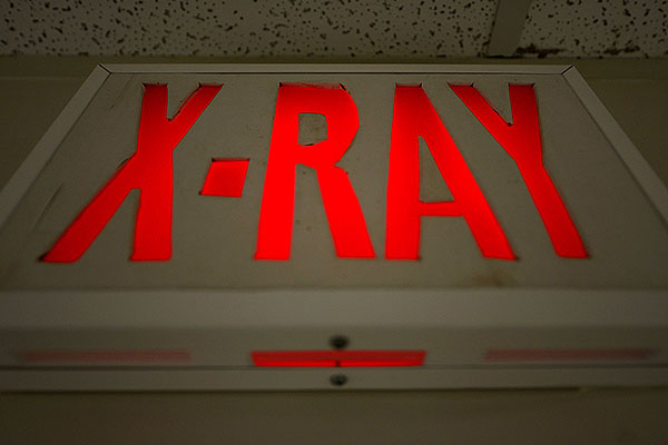 X-ray room sign. (U.S. Air Force/Staff Sgt. Evelyn Chavez)
