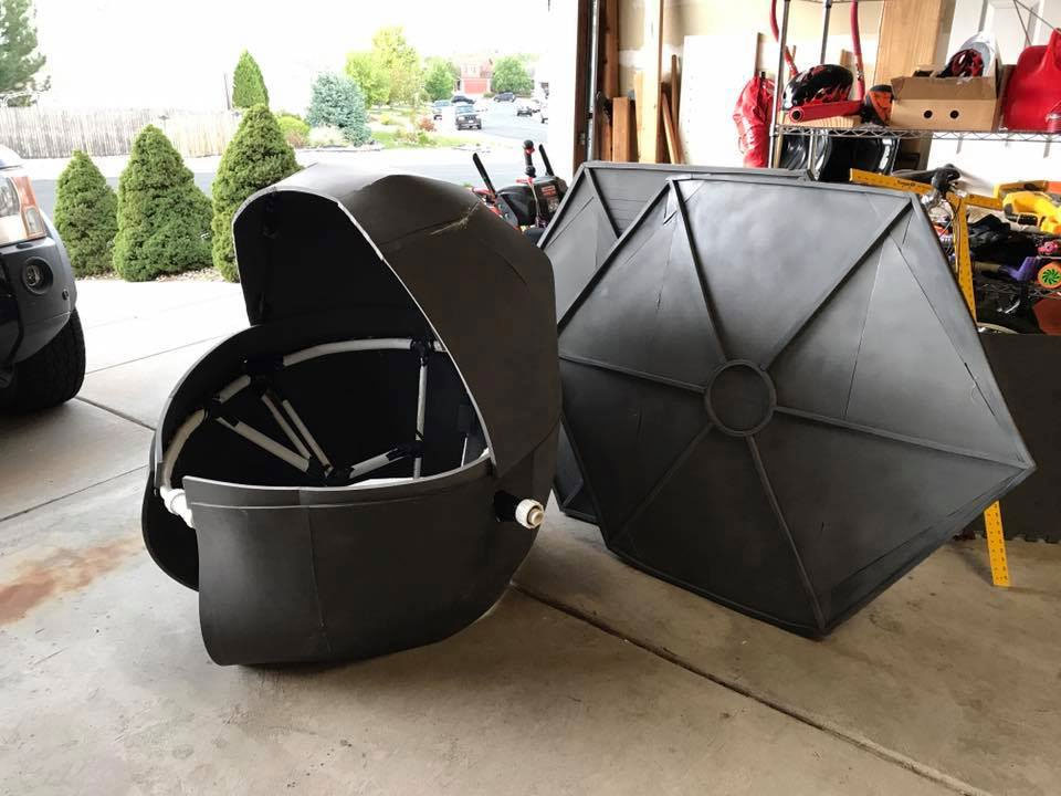 That's one cool Tie Fighter. (Courtesy of Stephanie Geraghty)