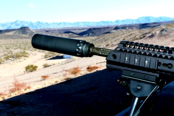 Yankee Hill Machine Co. Inc., unveiled its new Turbo suppressor at SHOT Show 2017. (Military.com photo/Matthew Cox)