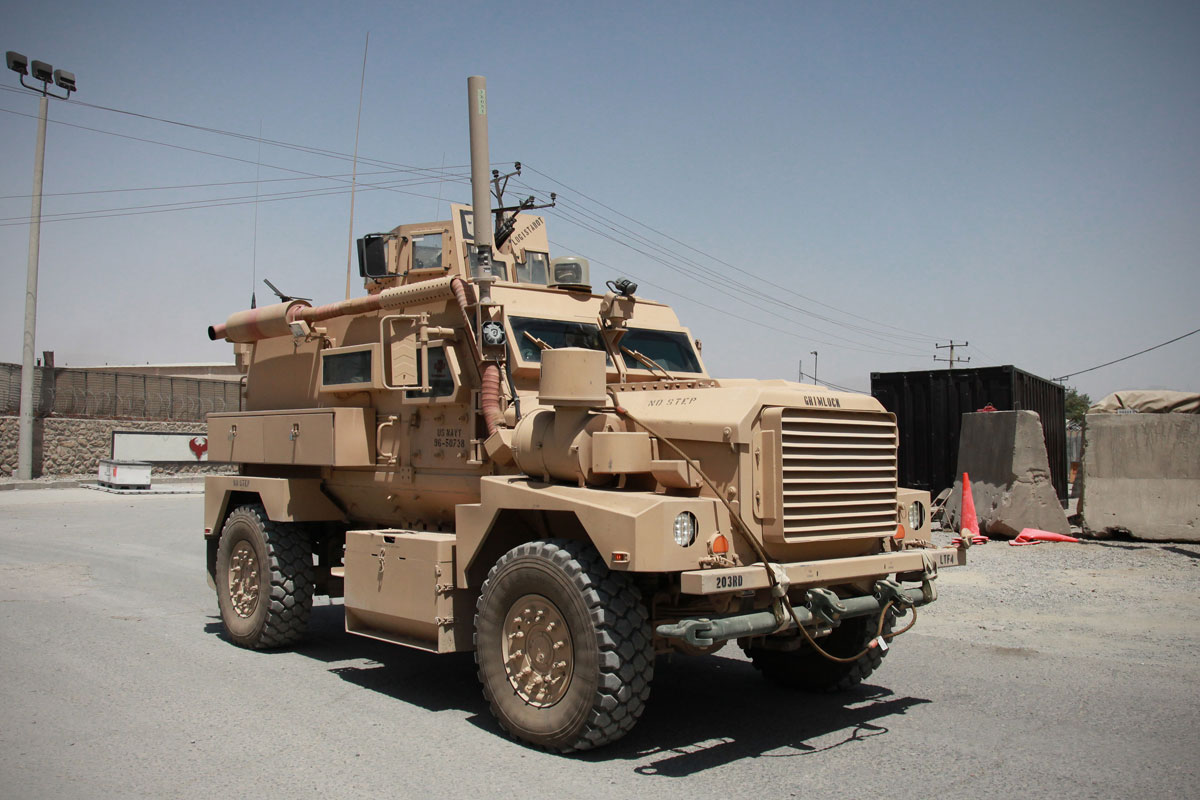 Buffalo mine protected route clearance vehicle cougar 4x4 mrap