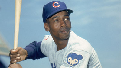 Ernie Banks with the Cubs