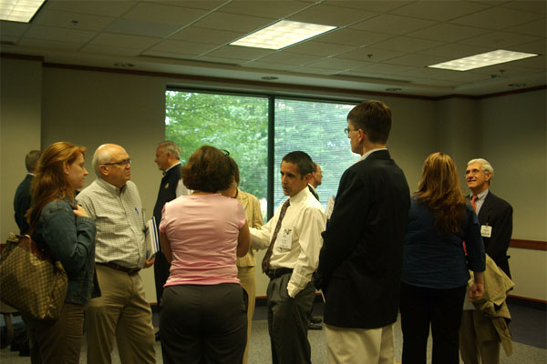 businesspeople networking